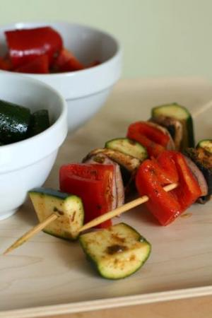 Vegetable Brochette with Spicy Marinade